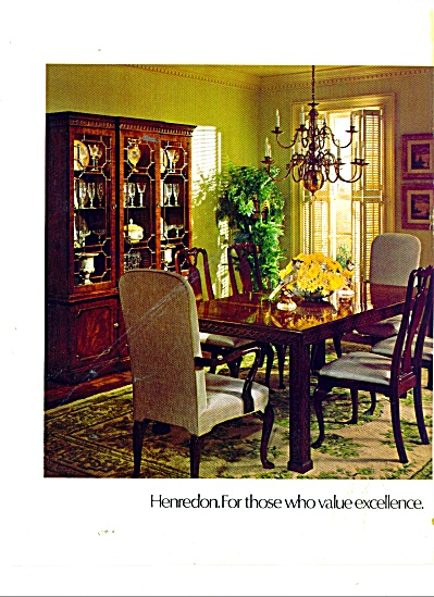 Henredon furniture ad 1979 DINING ROOM (Image1)