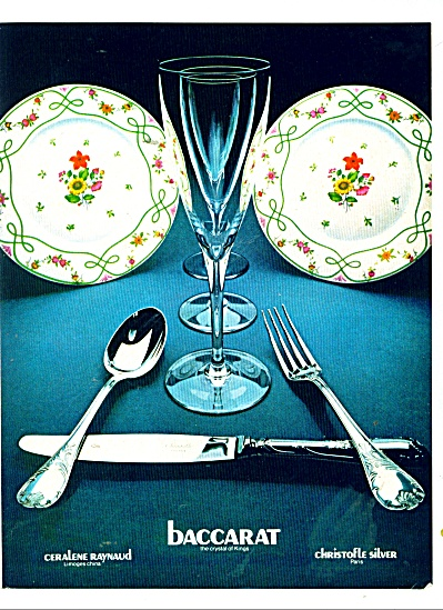 1979 Baccarat Limoges China Christofle Silver AD (Image1)