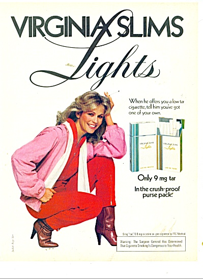 Virginia Slims Lights ad 1979 (Image1)
