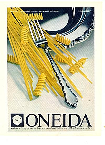 Oneida Stainless Silverware Ad 1980 Oneida Heirloom At