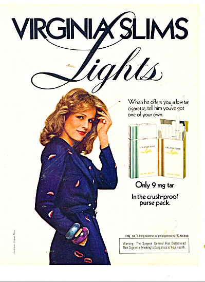 Virginia slims lights ad 1980 (Image1)