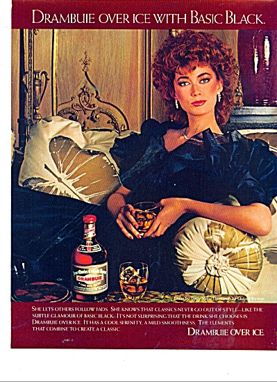 1980 DRAMBUIE AD BEAUTIFUL FASHION Model (Image1)