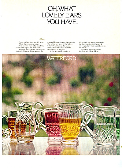 Waterford glassware ad 1980 (Image1)