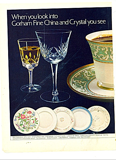 Gorham fine china and crystal ad 1979 (Image1)