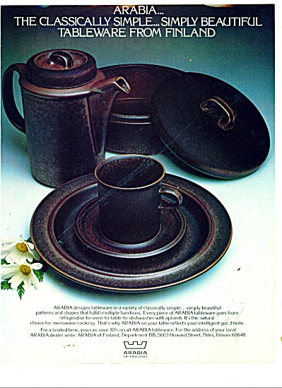 Arabia of Finland Dinnerware ad 1979 (Image1)