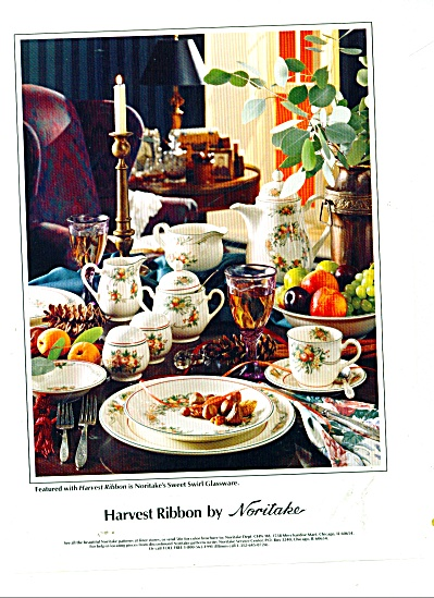 Harvest Ribbon / Sweet Swir Noritake Dinnerware AD 1986 (Image1)