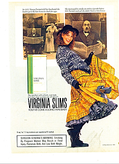 Virginia slims ad cigarettes. (Image1)
