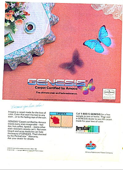 1989 Genesis Certified by Amoco =  Carpet ad (Image1)