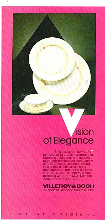 Villerov & Boch vision of elegance ad 1986 (Image1)