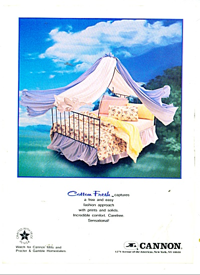 Cannon sheets ad 1986 (Image1)