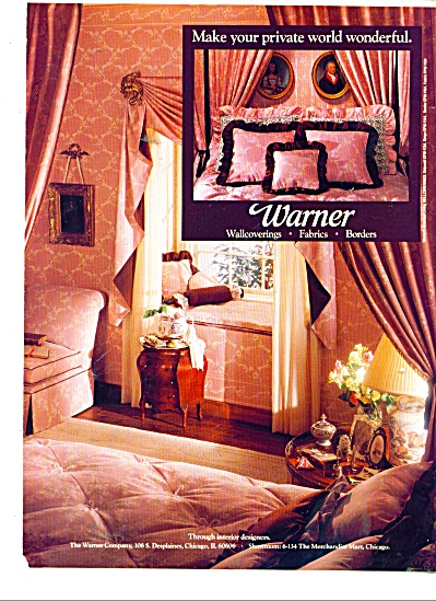 Warner wallcoverings ad 1986 (Image1)