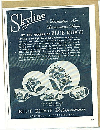 Blue Ridge Dinnerware ad 1950 (Image1)