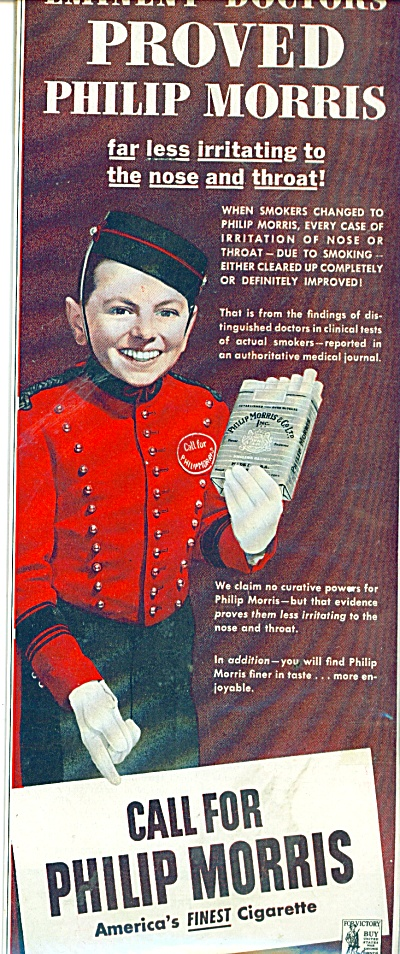 1944 Call for Philip Morris Cigarette AD BELLHOP (Image1)
