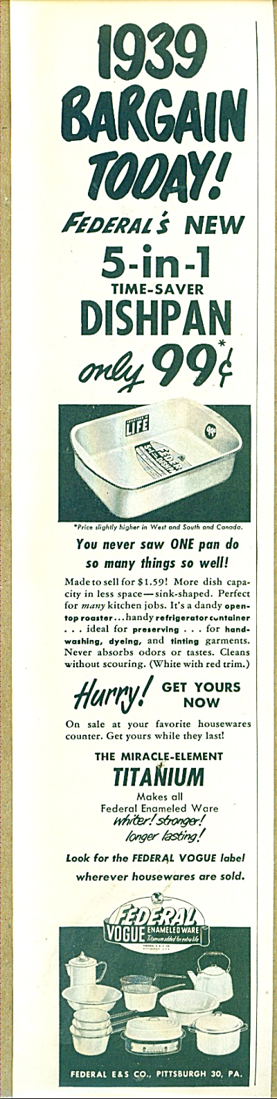 Federal vogue enameledware ad 1952 (Image1)