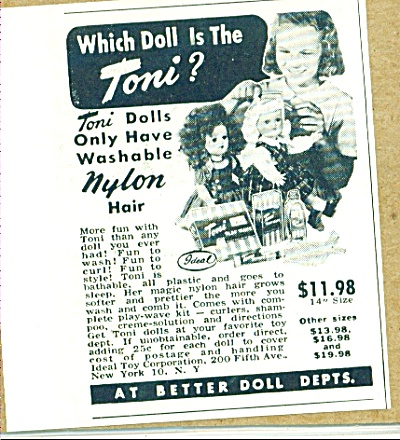 1951 IDEAL Toni Doll AD (Image1)