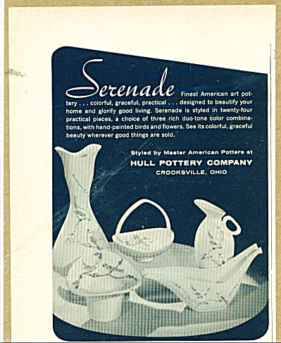 1957 HULL POTTERY SERENADE ART AD (Image1)