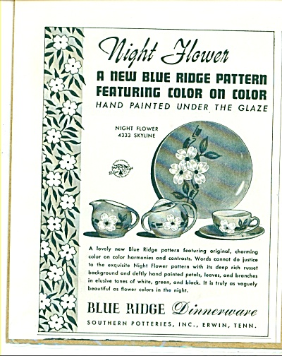 Blue Ridge Dinnerware ad (Image1)