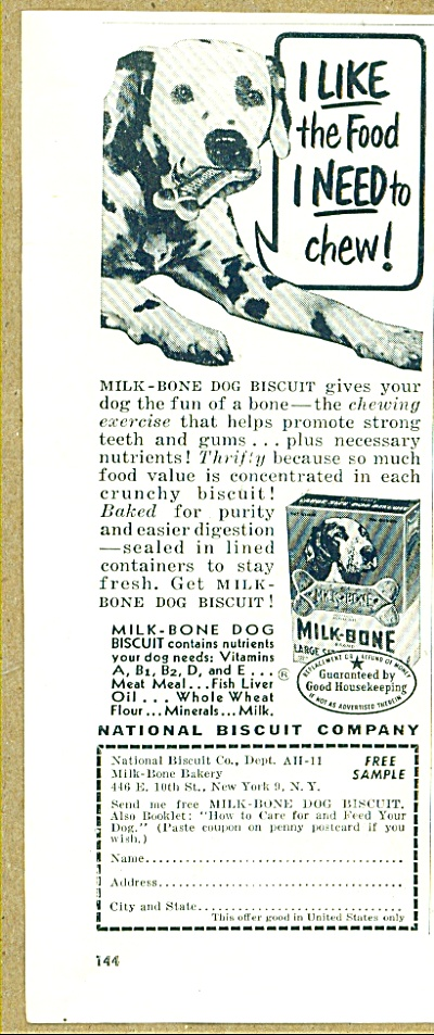 National Biscuit company - Milk bone dog food (Image1)
