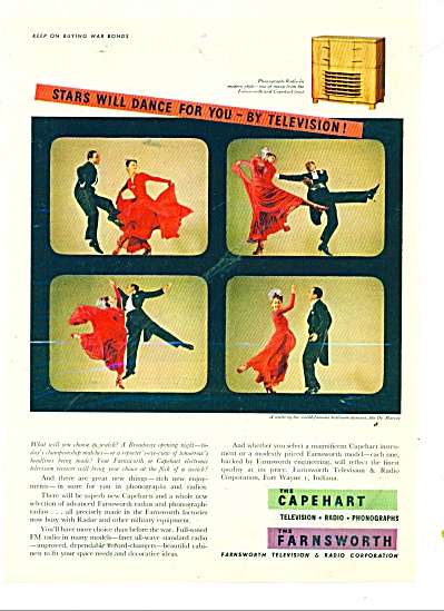 The Capehart Tv - Farnsworth Tv Ad 1945