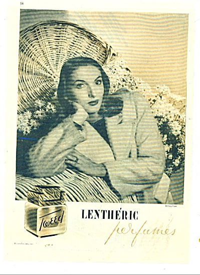 1945 Lentheric Perfumes Fashion Model Ad