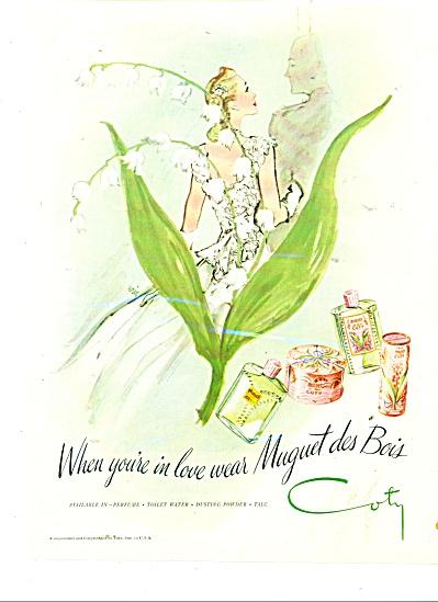 1945 COTY ERIC ARTWORK Carl Erickson AD (Image1)