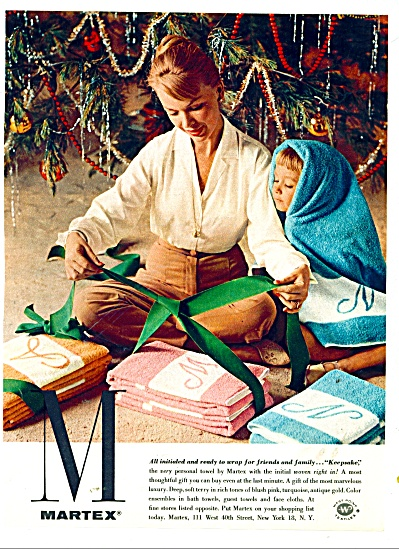 1959 Martex towels AD Lady / Child in Towel (Image1)