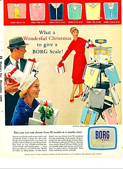 1959 BORG SCALE SCALES AD RETRO MODELS (Image1)