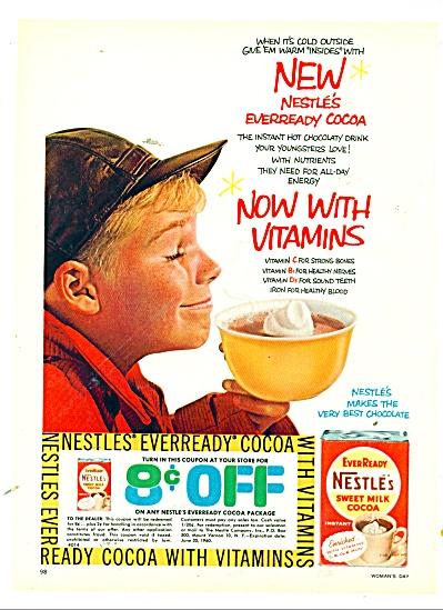 1959 Nestle's Sweet Milk Cocoa AD GOOFY BOY (Image1)