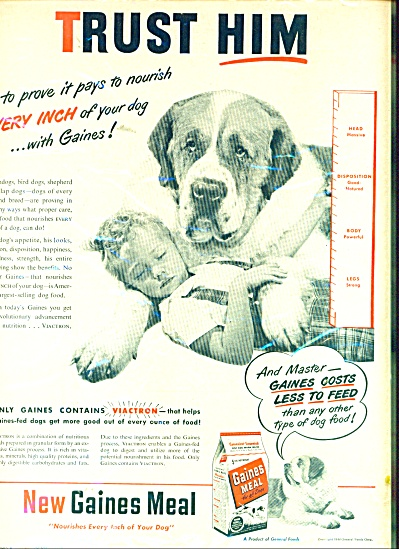 Gaines dog meal ad 1948 (Image1)