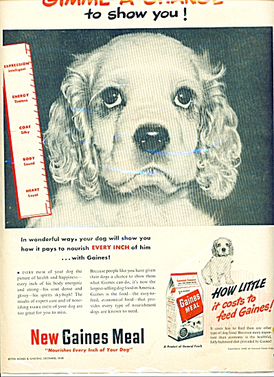 Gaines Meal for dogs ad 1948 (Image1)