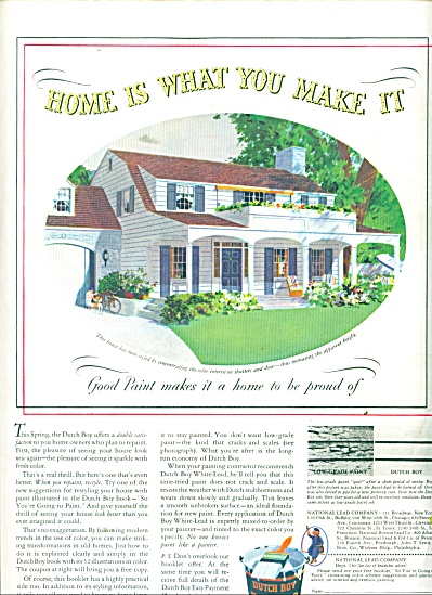 Dutch boy white lead paint - 1939 ad (Image1)