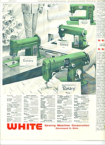 1956 White Sewing Machine Ad 4 Rotary Models