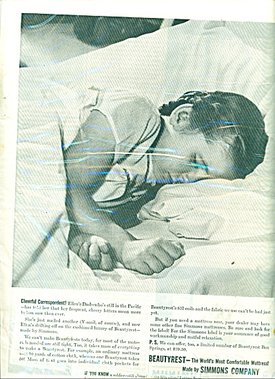 1945 Simmons BEAUTYREST Little GIRL SLEEPING (Image1)
