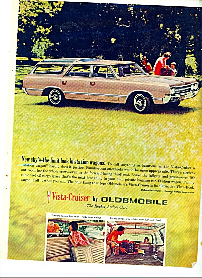 1964 Oldsmobile Vista Cruiser Car Ad