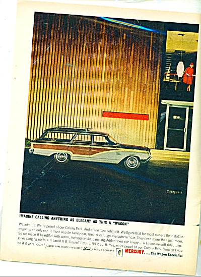 Mercury Station Wagon Ad 1964
