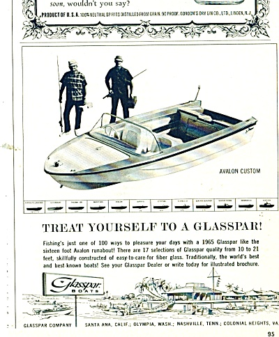 Glasspar Boats Ad 1964
