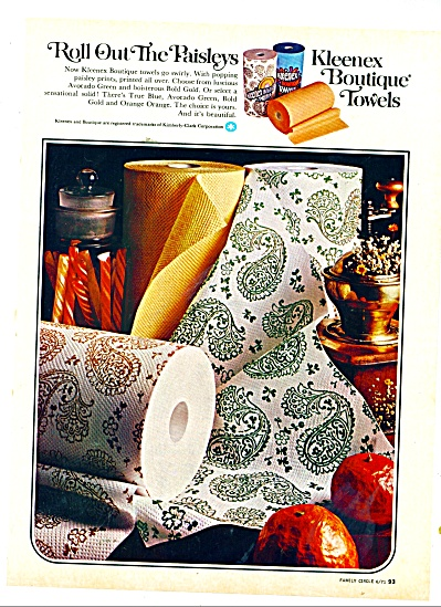Kleenex boutique towels ad 1971 (Image1)