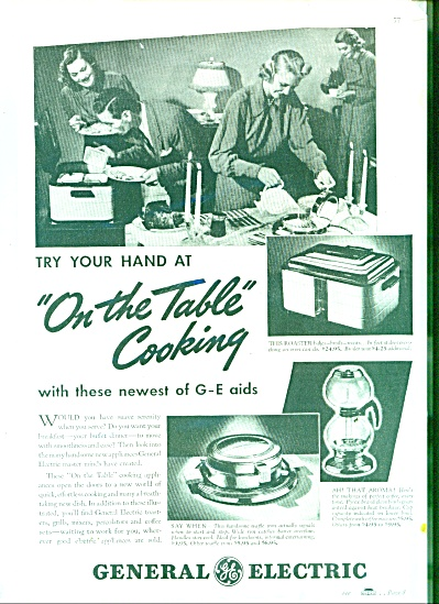 1937 GE General Electric Small Appliances AD (Image1)