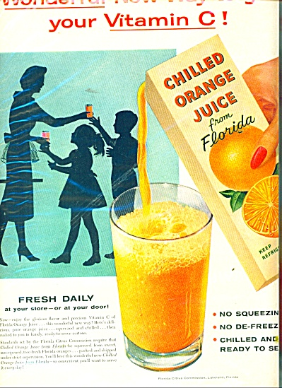 Orange juice from Florida ad 1957 (Image1)