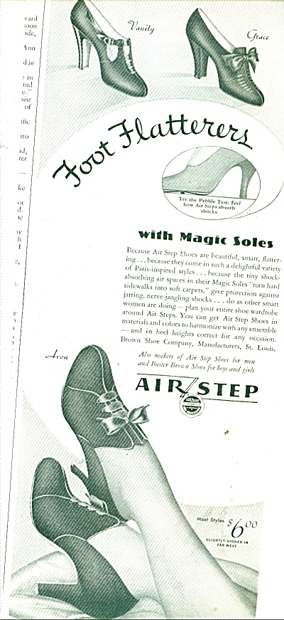 Air Step shoes with magic soles ad 1937 (Image1)