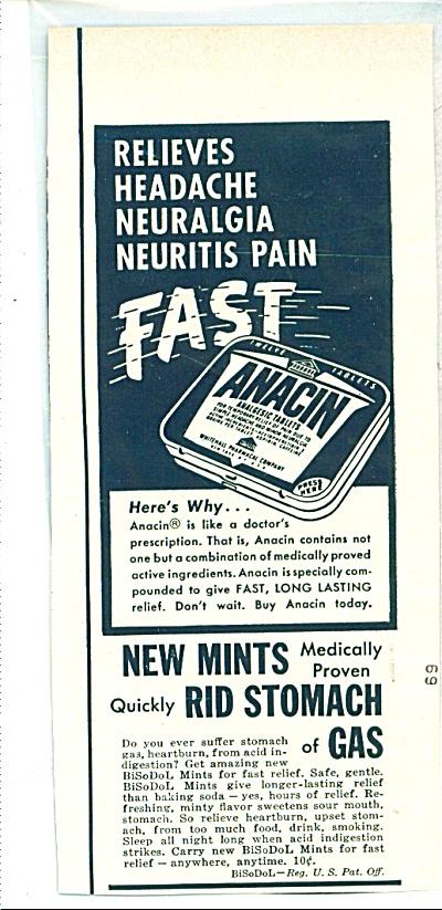 Anacin analgesic tablets ad (Image1)