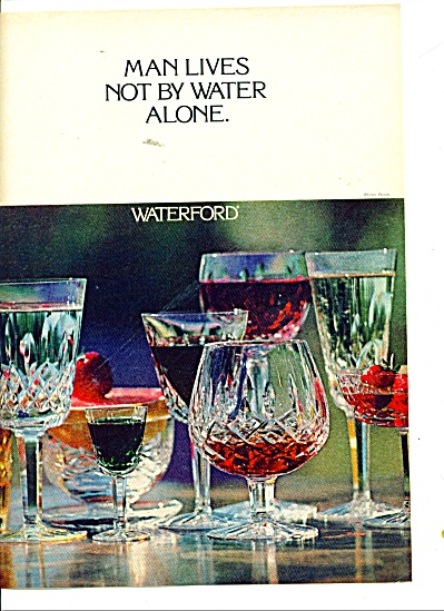 1977 Glass Waterford crystal ad 1977 (Image1)