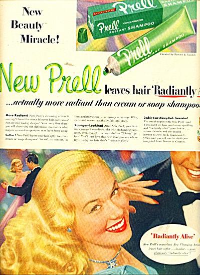 Prell shampoo ad - 1951 (Image1)
