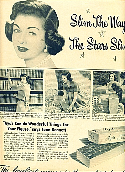 Ayds reducing candies - JOAN BENNETT  ad (Image1)