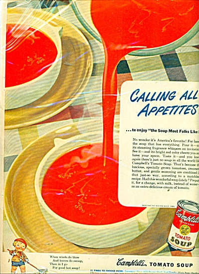 Campbell's Tomato soap -  1948 ad CALLING ALL APPETITES (Image1)