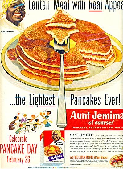 Aunt Jemimas pancakes ad 1952 (Image1)
