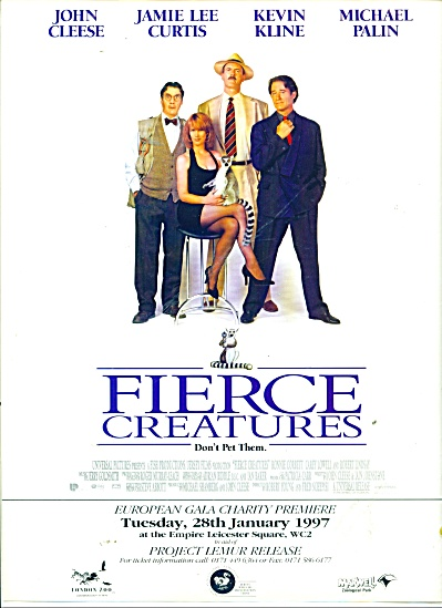 FIERCE CREATURES MOVIE AD - Cleese KLINE Curt (Image1)