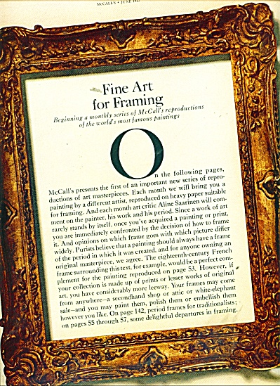 1967 3pg Art Reproductions AD Jean Honore Fra (Image1)