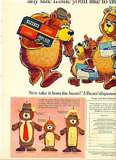 Kleenex tissues -  3 Bears ad 1967 (Image1)