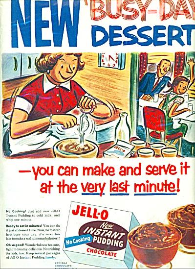 1954 Jello-New instant pudding AD ART (Image1)